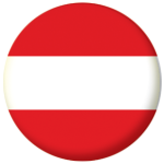 Austria Country Flag 58mm Button Badge